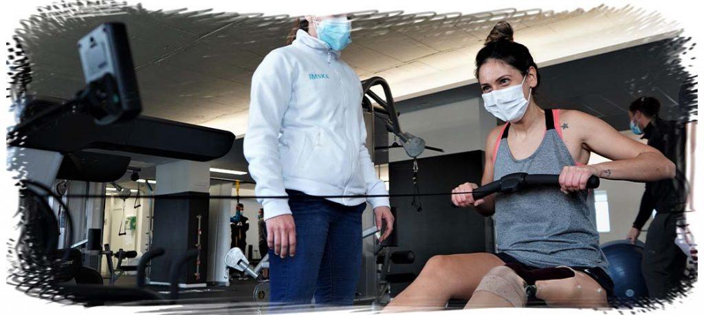 eme cabanyes haciendo ejercicio de rehabilitacion