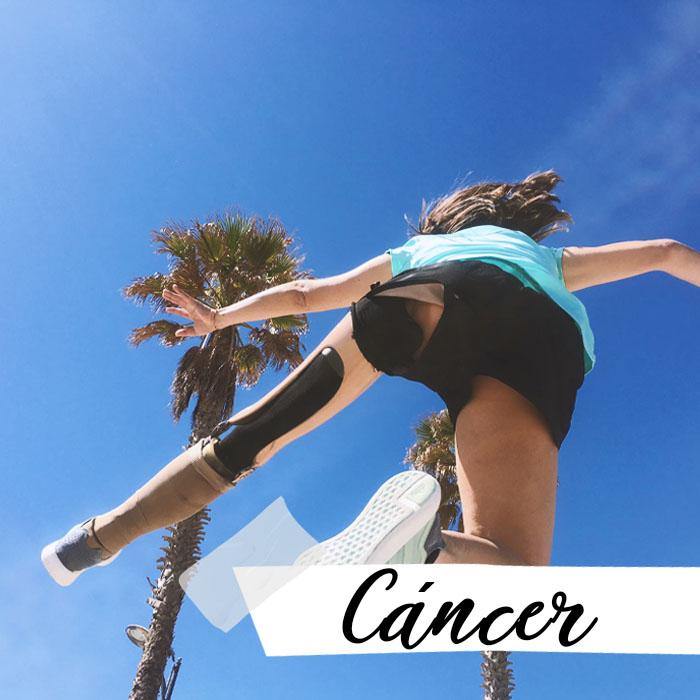 Mireia saltando: cáncer