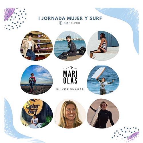 Evento mujeres que surfean